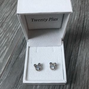 Silver Mickey Mouse Earrings | Disney